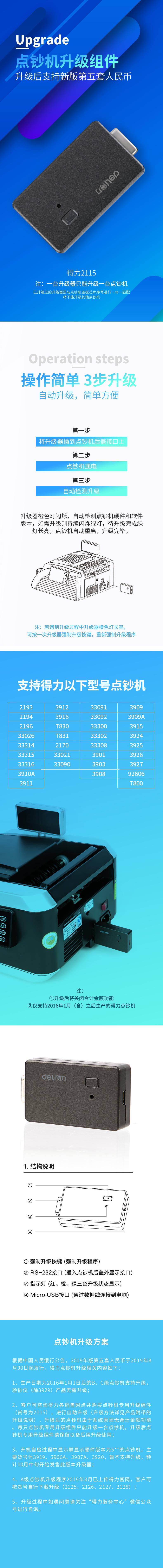 VWIN真人2115点钞机专用升级组件(银灰)(台)