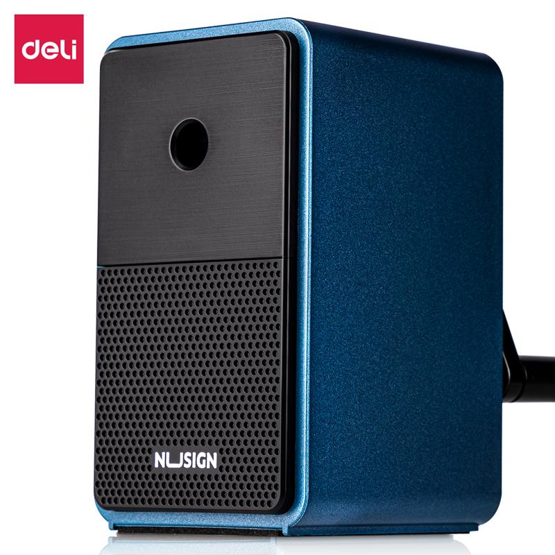 得力NS077自动进笔削笔机(蓝)(彩盒)