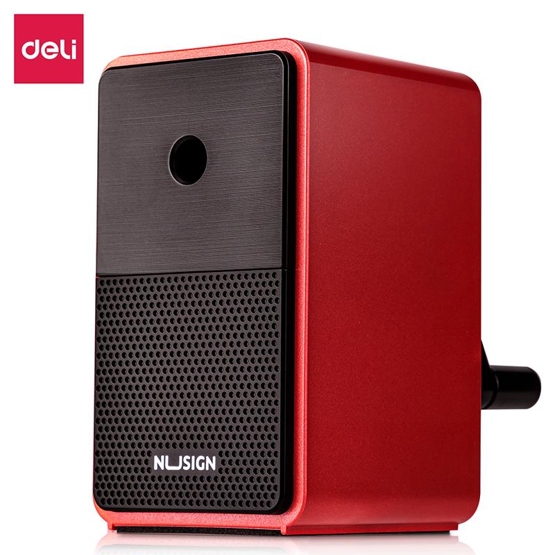 得力NS077自动进笔削笔机(红)(彩盒)
