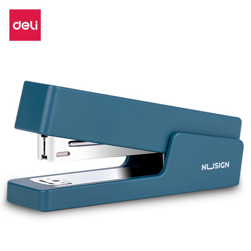 得力NS082订书机(蓝)(1台订书机/彩盒)