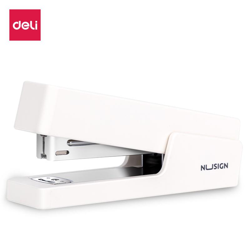 得力NS082订书机(白)(1台订书机/彩盒)