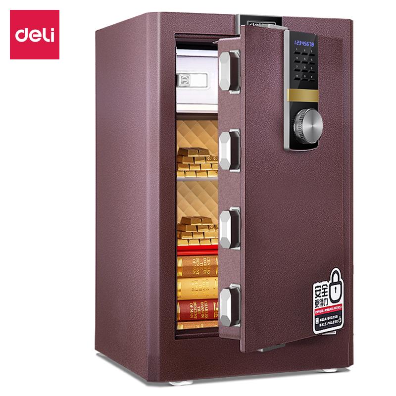 得力33143ES电子密码保管箱H710(棕色)(台)