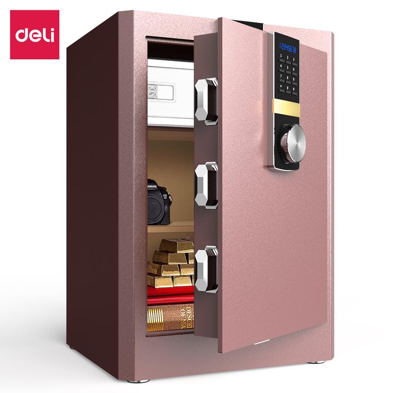 得力33142ES电子密码保管箱H610(棕色)(台)