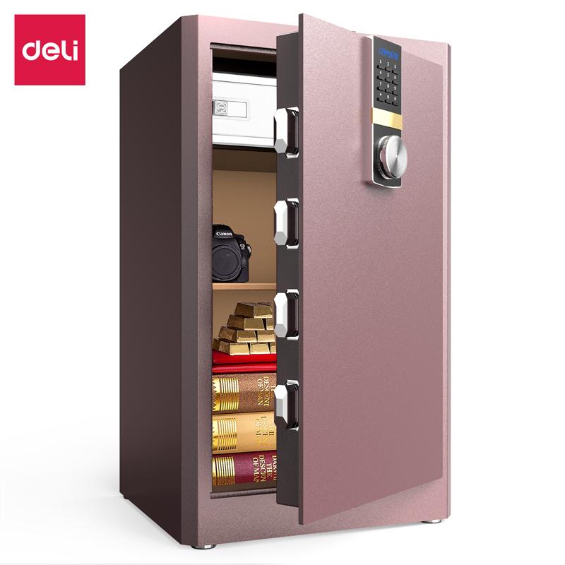 得力33144ES电子密码保管箱H810(棕色)(台)
