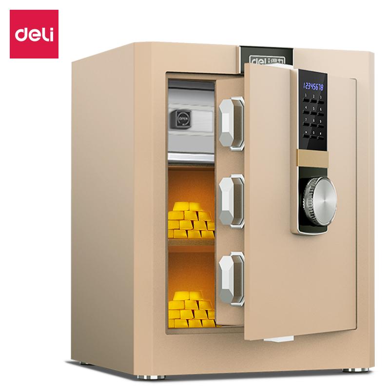 得力33145ES电子密码保管箱H460(浅棕)(台)
