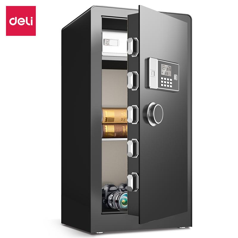 得力3617ES电子密码保管箱H910(银灰)(台)