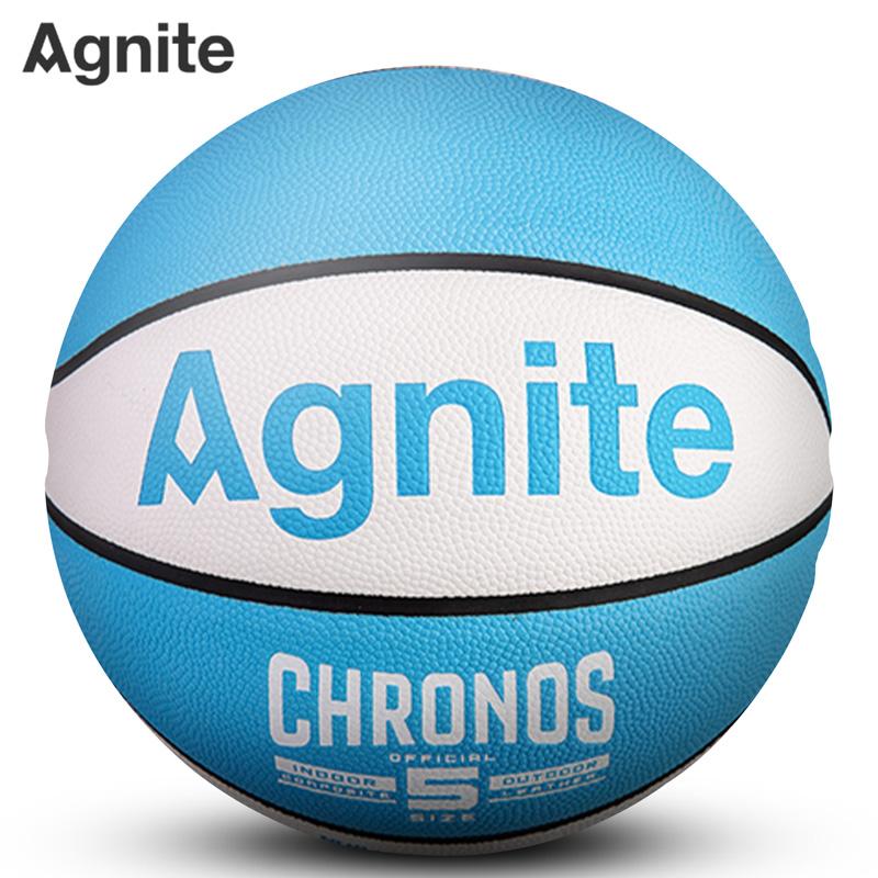 安格耐特F1143_5号PU一体篮球(白色+蓝色)(个)