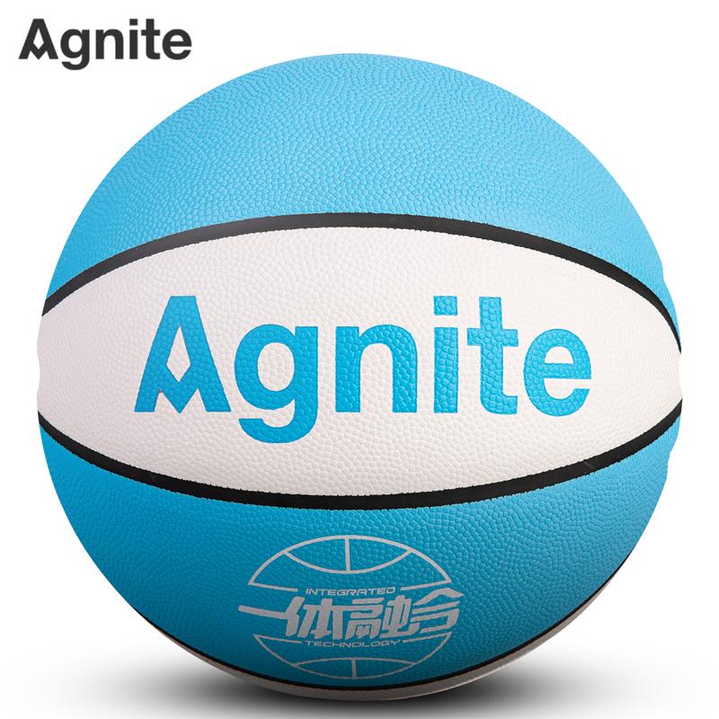 安格耐特F1144_7号PU一体篮球(白色+蓝色)(个)