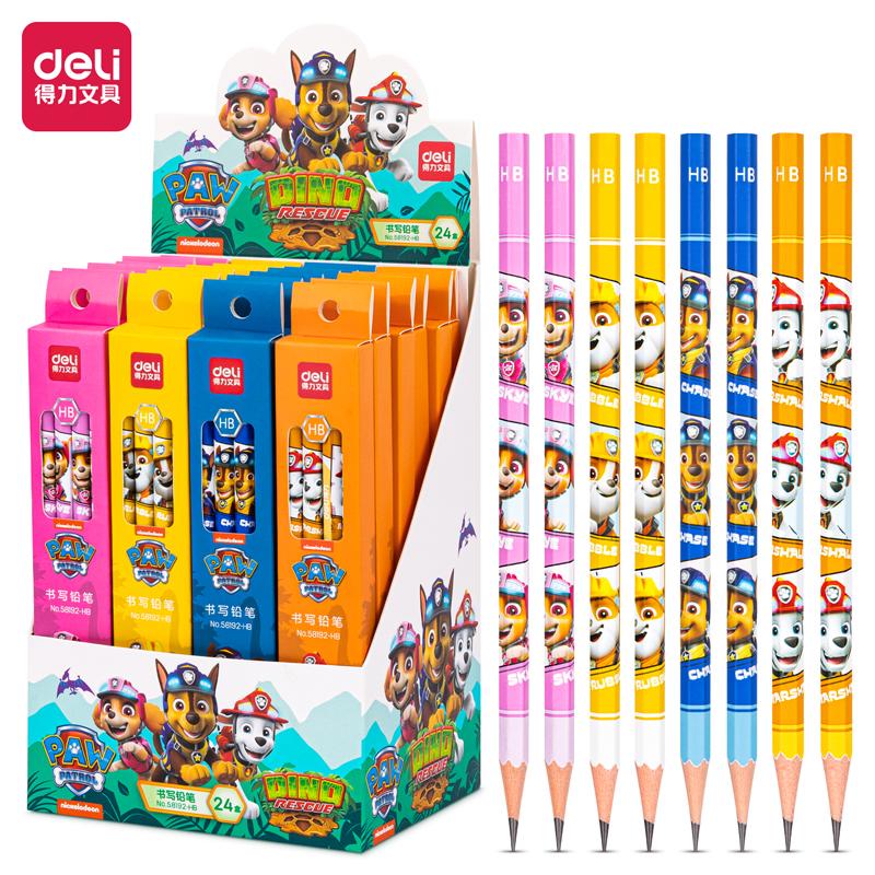 得力58192-HB_汪汪队主题8支彩盒装HB铅笔(混)(8支/盒)