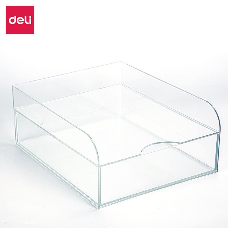 纽赛NS031双层收纳盒(透明本色)(只)