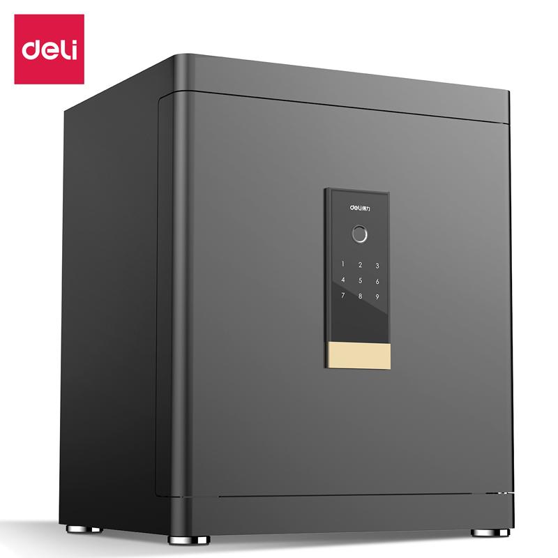 得力4112指纹密码保管箱H460(黑色)(台)