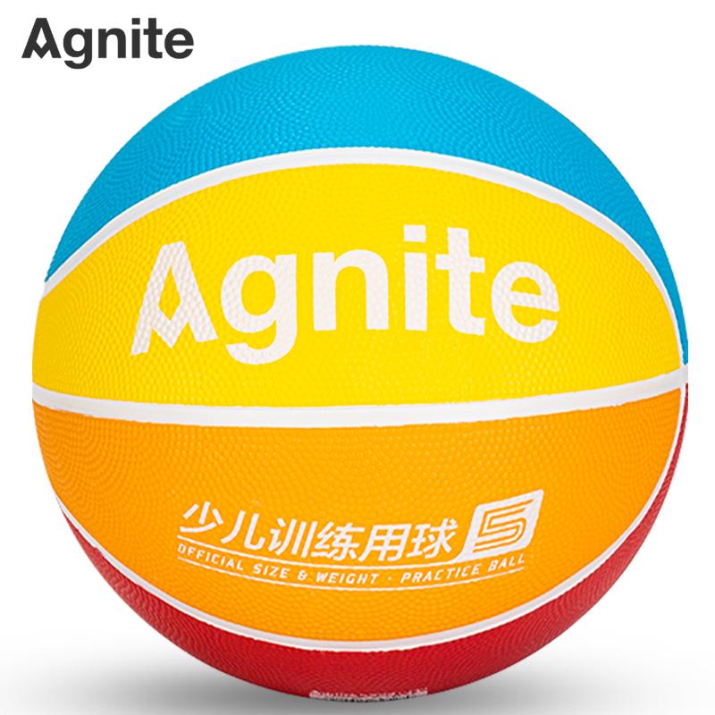 安格耐特F1175_5号橡胶少儿训练篮球(红色+蓝色+黄色+橙色)(个)